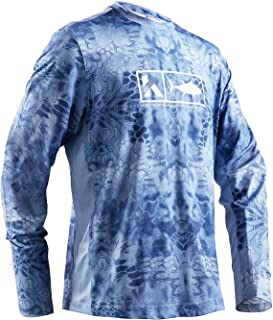Performance Fishing Shirt Men's Vented Long Sleeve UPF 50 Sun Protection Quick Dry Cooling Mesh Sides Rash Guard