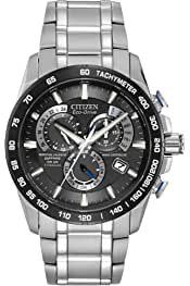 Citizen Men's Eco-Drive Titanium Perpetual Chrono Atomic Timekeeping Watch with Date,  AT4010-50E
