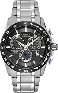 Men's Eco-Drive Titanium Perpetual Chrono Atomic Timekeeping Watch with Date, AT4010-50E