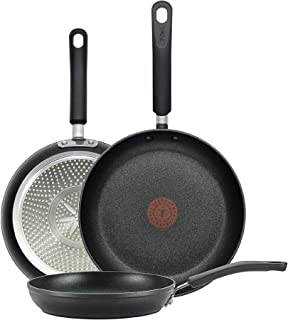 T-fal E938S3 Professional Total Nonstick Thermo-Spot Heat Indicator Fry Pan Cookware Set, 3-Piece, 8-Inch 10.5-Inch and 1...