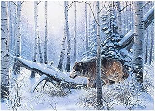 Oak Street Snowy Wolf Hunting Winter LED Art 8