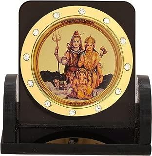 Leganza Shiv Parivar Idol Showpiece for Home Office - Multicolor with Black Base