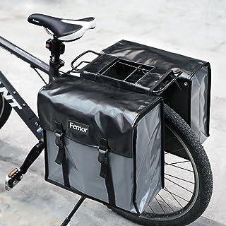 3170ee7560a FEMOR Doppelte Fahrradtasche Fahrrad Outdoor hinten Sitz Bag Rücken  Schulter wasserdichte Handtasche - Wasserdichte Schwarz 20