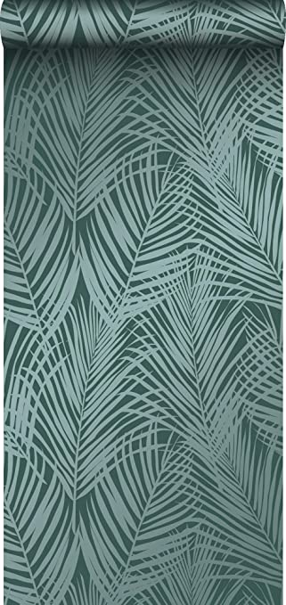 Carta Da Parati Pittura A Gesso Foglie Di Palma Verde Smeraldo 347710 Di Origin Luxury Wallcoverings Amazon It Fai Da Te