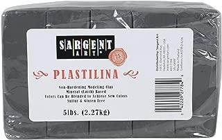 Sargent Art Plastilina Modeling Clay, 5-Pound, Gray