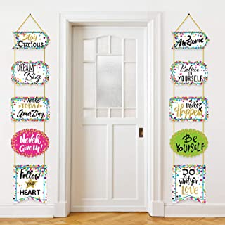 Classroom Decoration Banner Motivation Positive Porch Sign Confetti Positive Sayings Accents for Classroom Bulletin Board Decorations, Office, Home, Nursery Decoration