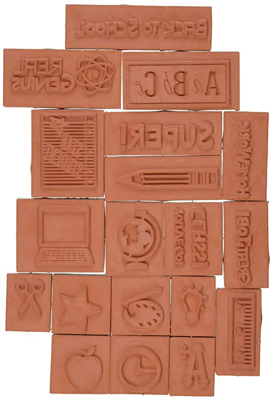 Inkadinkado Teacher Mason Jar Foam Stamps Sheet, 3