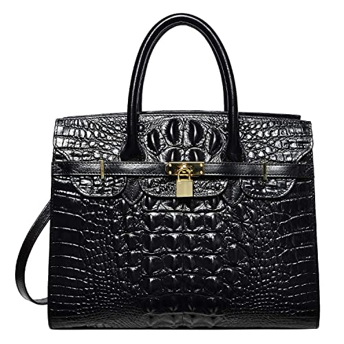 9b09bf509b9f PIJUSHI Women Purses And Handbags Crocodile Top Handle Satchel Bags  Designer Handbags