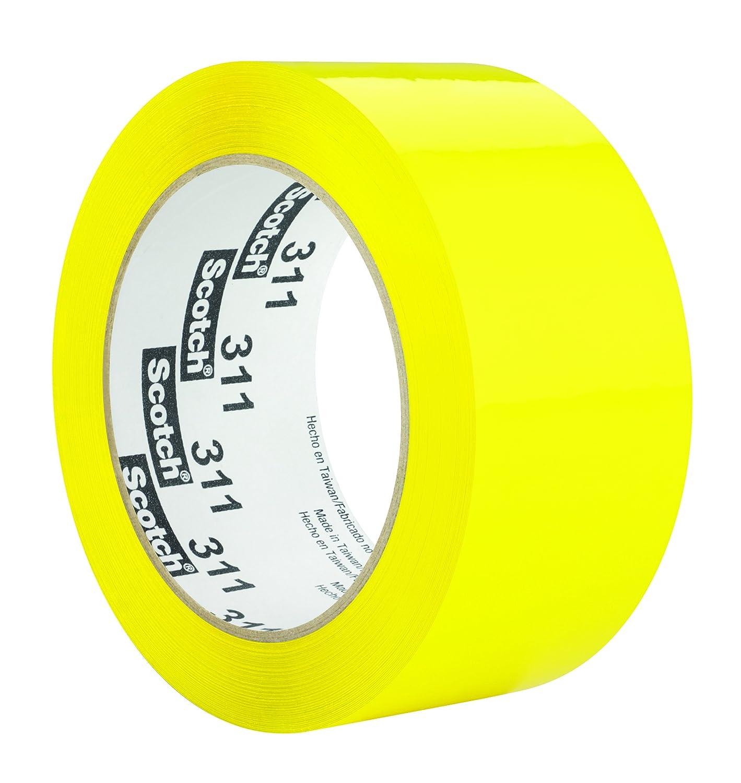 Scotch Box Sealing Tape 311 信託 72 mm 4 (訳ありセール 格安) Yellow 914 x of Pack m