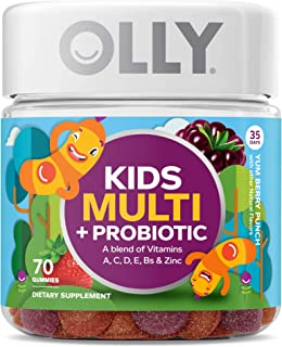 OLLY Kids Multi + Probiotic Gummy Multivitamin, 35 Day Supply (70 Count), Yum Berry..