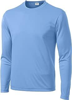Men's Long Sleeve Moisture Wicking Athletic Sport Training T-Shirt