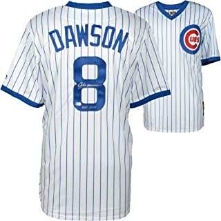 Andre Dawson Chicago Cubs Autographed Cooperstown Collection White Replica Jersey with