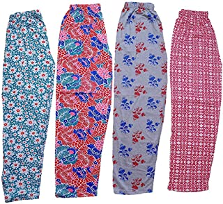 Jyoti Womens Track Pant Lower Cotton Printed Payjama/Lounge Wear –Soft Cotton Night Wear/Pyjama for Women(Pack of 4Pcs), Prints May Vary (Assorted Pyjama),