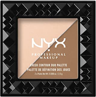 NYX PROFESSIONAL MAKEUP Contour Duo Palette, Cheek On Cheek, 0.18 Ounce