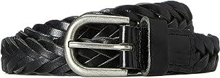 Women's Belt in Leather Plait Weave
