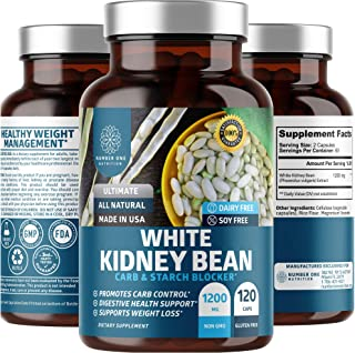 N1N Premium White Kidney Bean Extract [Max Strength & Absorption] Powerful Carb & Starch Blocker to Support Weight Loss an...