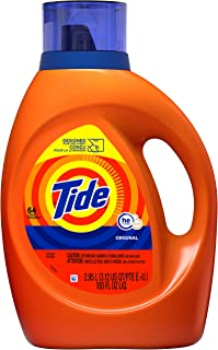 Tide Laundry Detergent Liquid, Original Scent, HE Turbo Clean, 100 Fl Oz