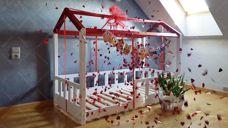Oliveo Casa cama con barreras, casa de cama de niños, cama ...