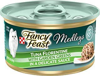 Purina Fancy Feast Wet Cat Food, Medleys White Meat Chicken Tuscany with Long Grain Rice..