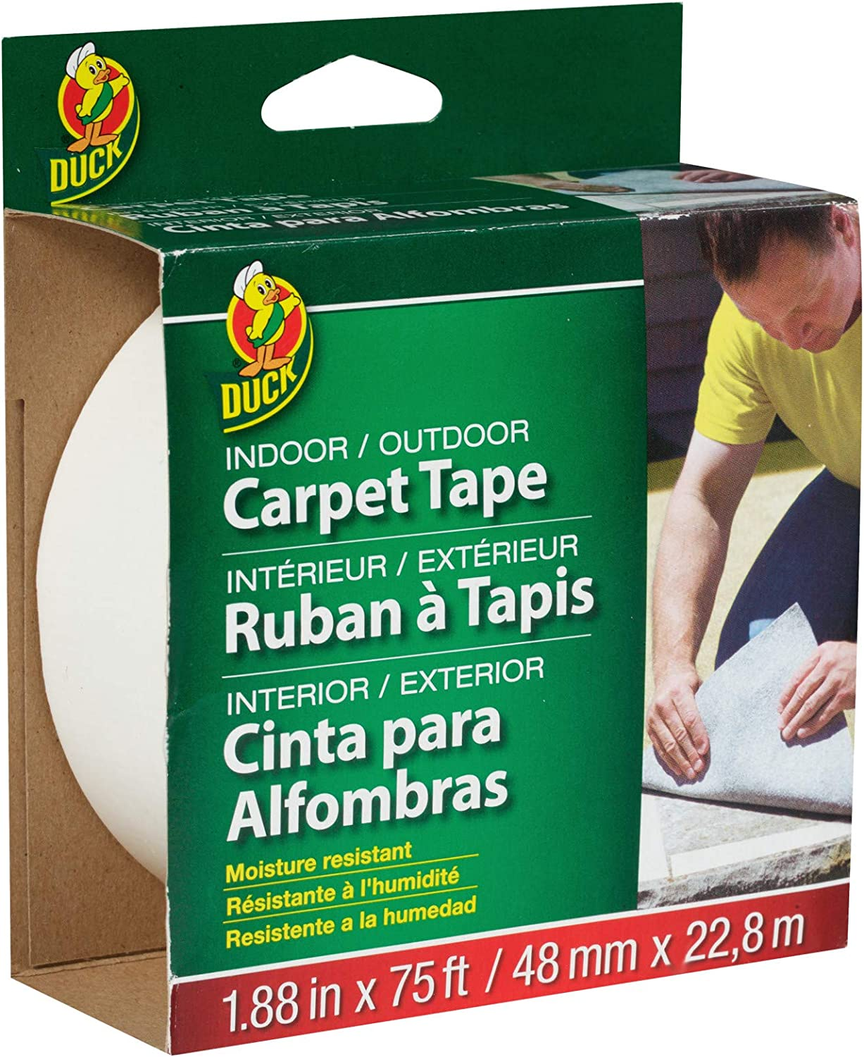 Duck Challenge the Fresno Mall lowest price of Japan Brand 442062 Indoor Outdoor Carpet Fee 1.88-Inch x Tape 75