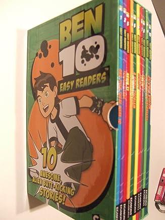 Ben 10 (Easy Readers) 10 AWSOME ALIEN BUTT-KICKING STORIES (Set of 10 in a slipcase)