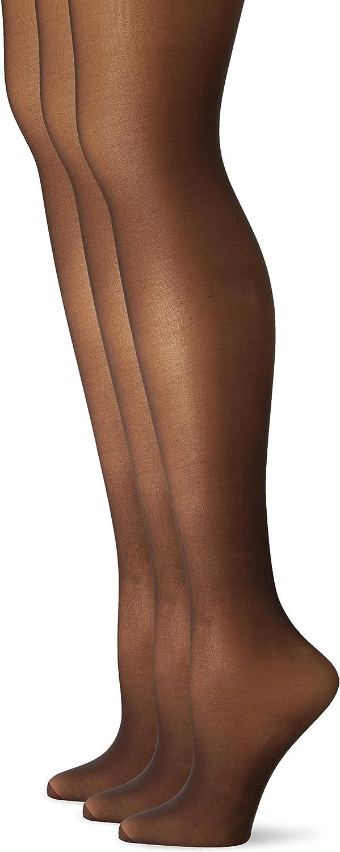 L'eggs Women's Silken Mist 3 Pack Control Top Reinforced Toe Panty Hose
