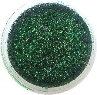 Green Hologram Glitter Dust, 5 gram container