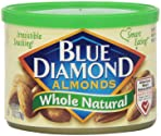 Blue Diamond Almonds, Whole Natural, 6 Ounce