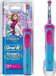 Oral-B Stages Power Spazzolino Elettrico Ricaricabile per Bambini con Personaggi Disney di Frozen, con 1 Manico e 1 Testin...