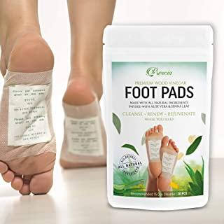 Prescia Foot Pads   Remove Impurities - Cleansing   30 Piece Patch   Aids in Relieving Stress and Tension   Reduce Foot Odor   Pain Relief   All-Natural Ingredients   Organic Foot Pads