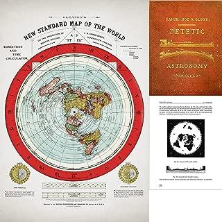 Lone Star Art Flat Earth Map - Gleason's 1894 New Standard Map Of The World - 24