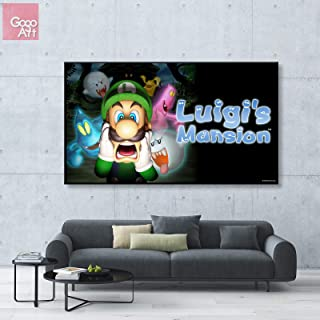 GoGoArt ROLL Canvas Print Wall Art Photo Big Picture Poster (no Framed no Stretched not Oil Painting) Nintendo Game Luigis Mansion Scary Ghost Kids Adventure Game Mission A-0306-2-1.75 (24 x 42 inch)