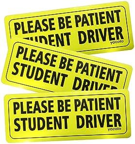 Yacoto 3 Pcs Student Driver Magnet Sign Vehicle Magnet
