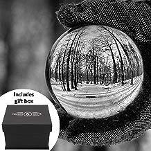Maison & White Claro bola de cristal | Lente de vidrio K9 de 80 mm Photo Sphere | Incluye caja de regalo y soporte gratis | Para Fotografía, Decoración, Meditación | Idea ideal de regalo