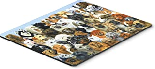 Caroline's Treasures BDBA0441MP Fifty One Dogs Mouse Pad, Hot Pad or Trivet, Large, Multicolor