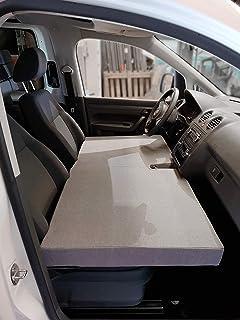 KFoam.es Colchón Plegable Cama Delantera para Volkswagen Caddy Camper Manual Color Gris (2004-2019)