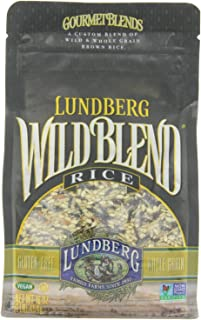 Lundberg Wild Blend, Gourmet Blend of Wild and Whole Grain Brown Rice, Gluten Free, 16-Ounce Bags