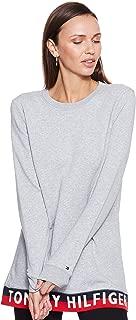 Tommy Hilfiger Women's WW0WW24111-Light Grey Sweatshirts