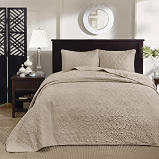 Madison Park Quebec 3 Piece Bedspread Set - King - Khaki