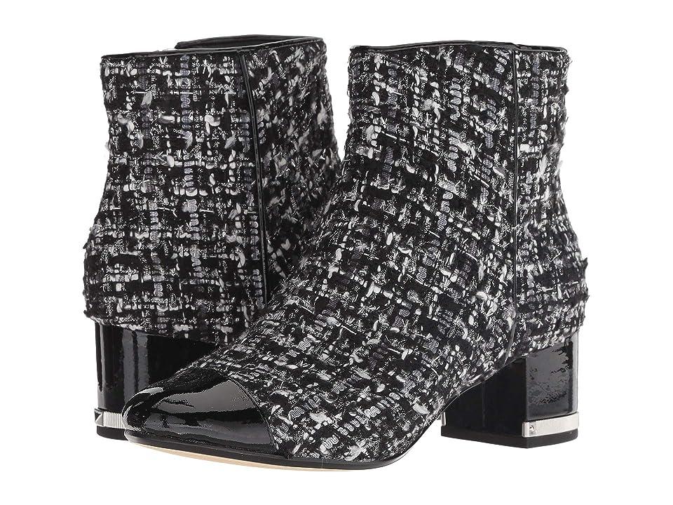 45ea7ea6fed5 MICHAEL Michael Kors Marcie Toe Cap Mid Bootie (Black Silver) Women