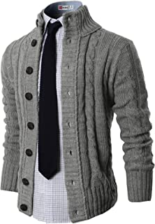 Mens Casual Slim Fit Cardigan Sweater Knitted Thermal Button Down Closure