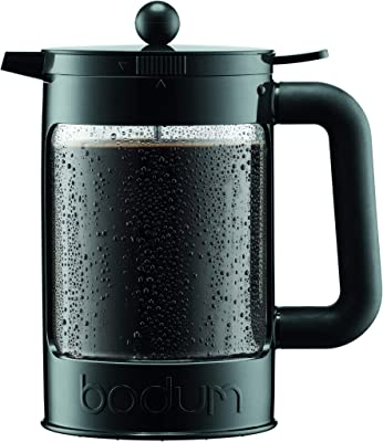 Bodum K11683-01WM Bean Cold Brew Coffee Maker, 51 Oz, Jet Black