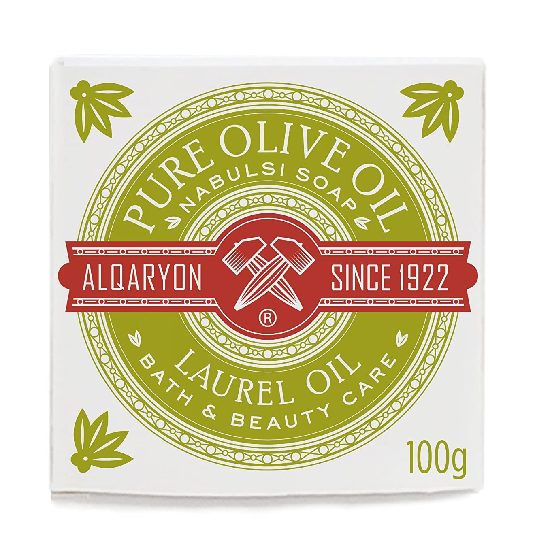 スキー望む抹消Alqaryon Laurel Oil & Olive Oil Bar Soap Pack of 4 - AlqaryonのローレルオイルI&オリーブオイル ソープ、バス & ビューティー ケア、100gの石鹸4個のパック