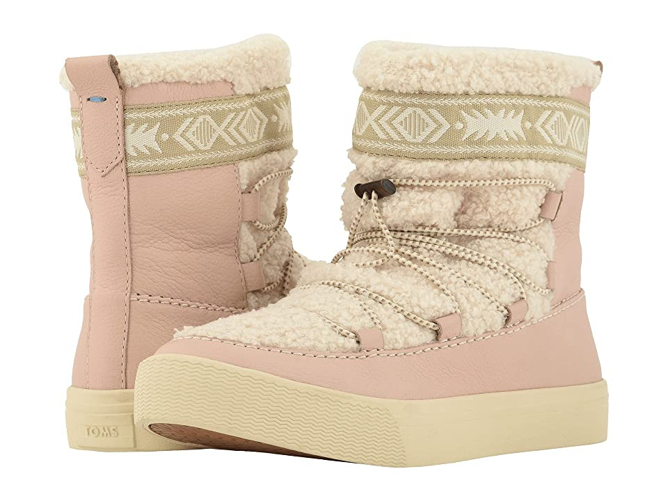 TOMS Alpine Water-Resistant Boot (Dark Blush Leather/Faux Shearling) Women