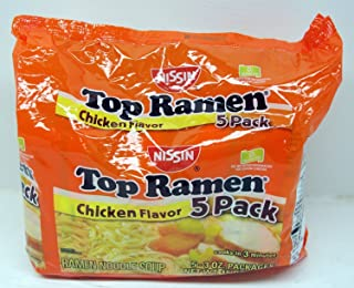 Nissin Top Ramen Noodle Soup Chicken Flavor 3 Ounce Packages - 15 Packs