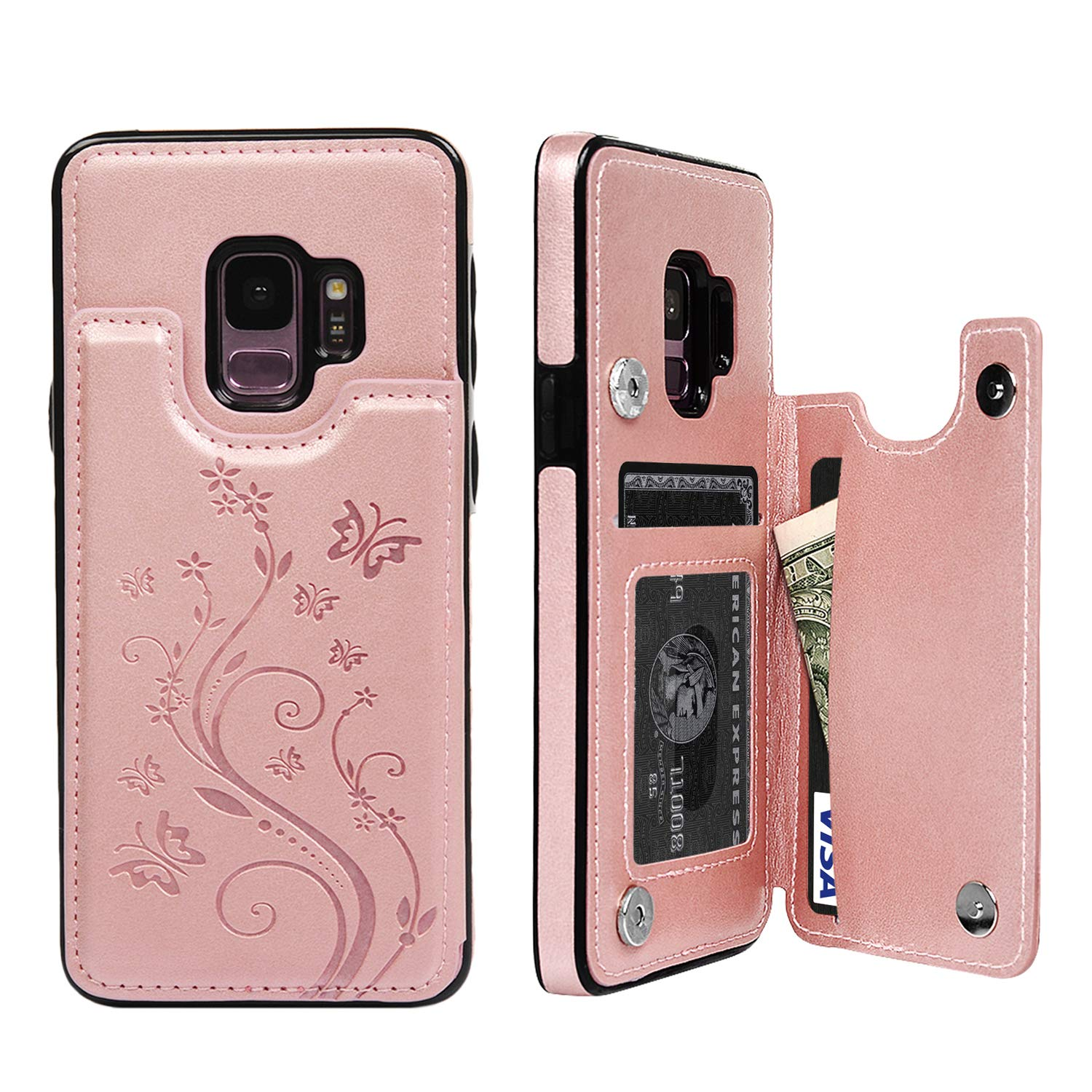 SUPWALL Kickstand Magnetic Shockproof Butterfly Gold