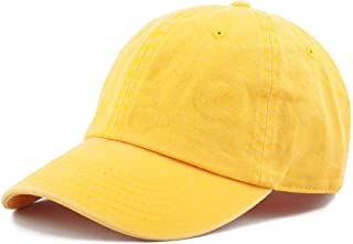 c4aeddaa The Hat Depot 100% Cotton Pigment Dyed Low Profile Dad Hat Six Panel Cap