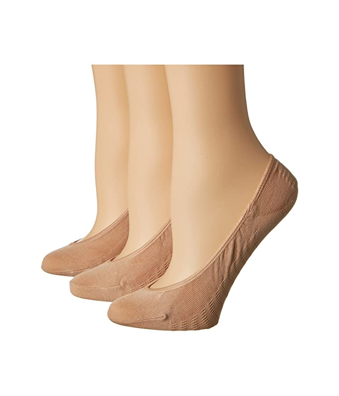 Sperry Solid Micro Liner 3 Pair (Brush) Women's No Show Socks Shoes