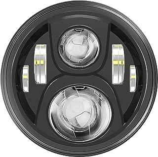 7 LED Headlight For Harley Davidson Motorcycle Projector LED Light Bulb For Jeep Wrangler JK LJ CJ Headlamp Black
