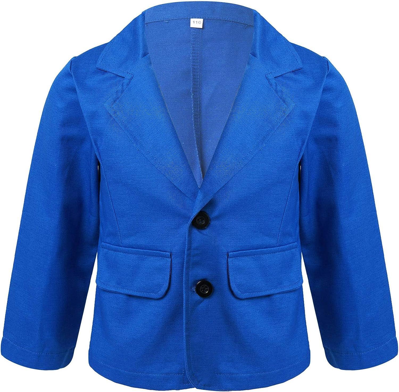 YONGHS Kids Boys Slim Fit Sports Coat Toddler Lapel Collar Blazer Jacket Gentleman Casual Button Outerwear